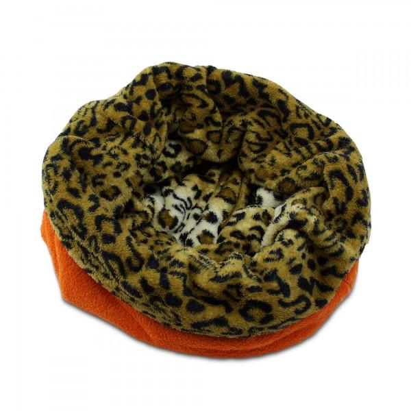 3in1 Decke - Schlafsack - Kissen für Hunde und Kleintiere - Fleece - Orange