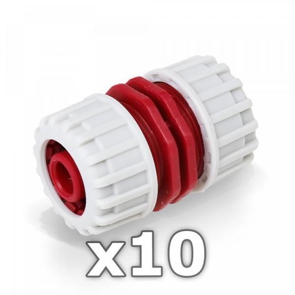 10 x Berlan 1/2'' Zoll Reparator Schlauchverbinder - RED LINE -