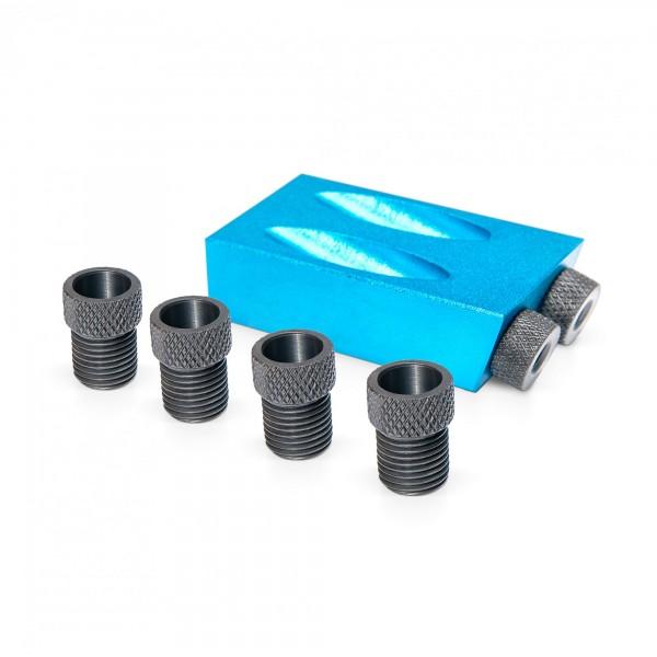 Aluminium Taschenlochbohrvorrichtung mit 6/8/10mm Führungen