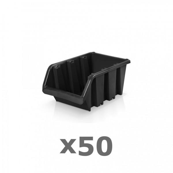 50 x Lagerbox Größe 1 schwarz