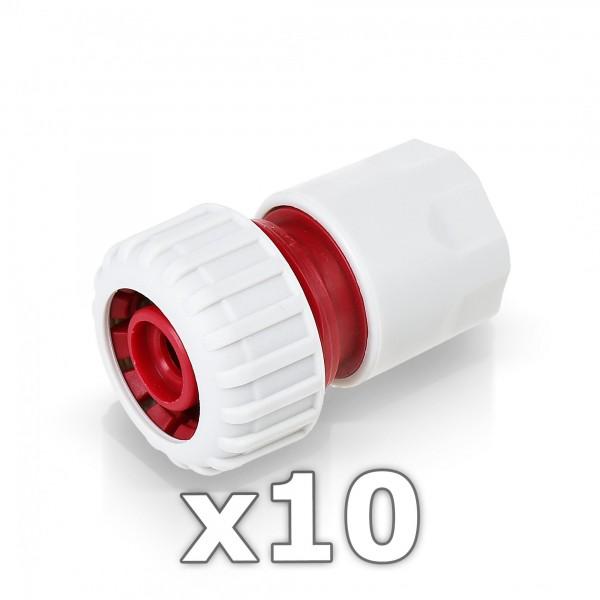 """10x Berlan Schlauchstück 3/4"""" Zoll Kupplung -RED LINE-"""