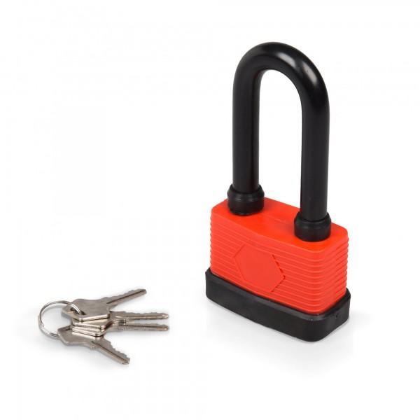 65 mm Vorhängeschloss lang - wasserdicht mit 4 Schlüsseln
