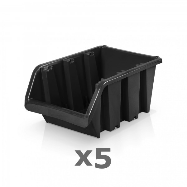 5 x Lagerbox Größe 4 schwarz
