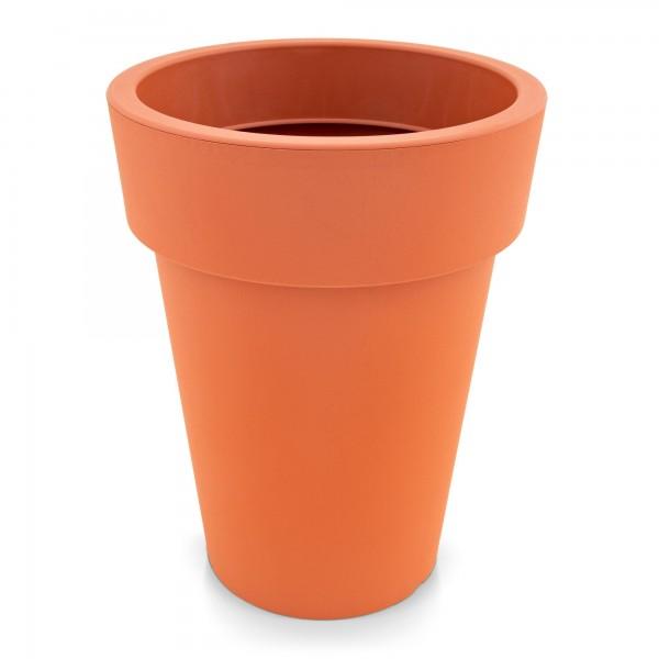 Kunststoff Blumentopf schmal terracotta - Höhe 518 mm