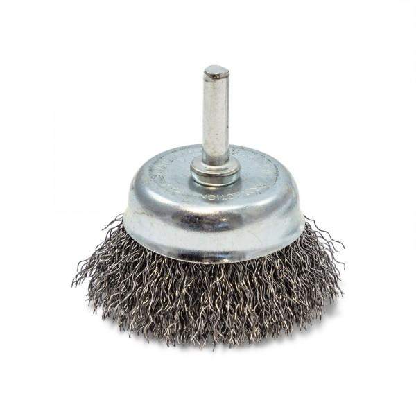 50 mm Topfbürste gewellt - 6 mm Schaft