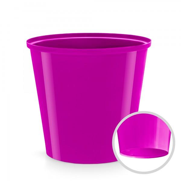 Kunststoff Blumentopf - fuchsia - 130 mm Durchmesser - rund