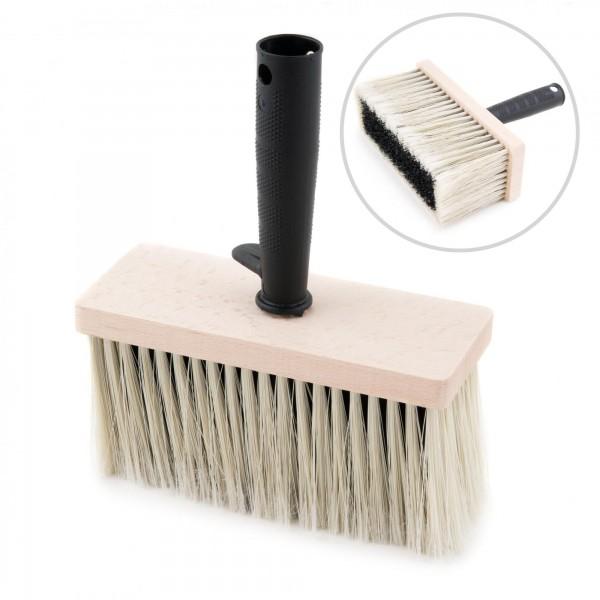 Malerbürste eckig mit Holzkörper und Kunststoffborsten - 17 x 7 x 21 cm