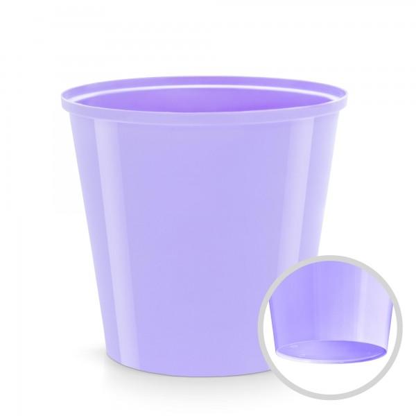 Kunststoff Blumentopf - lavendel - 130 mm Durchmesser - rund