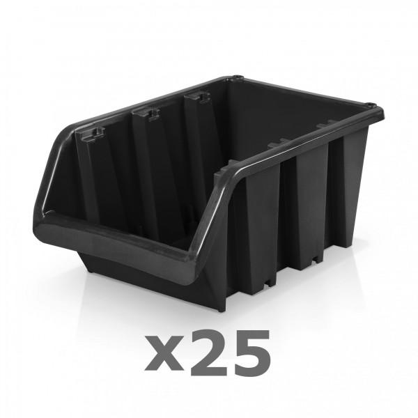 25 x Lagerbox Größe 5 schwarz
