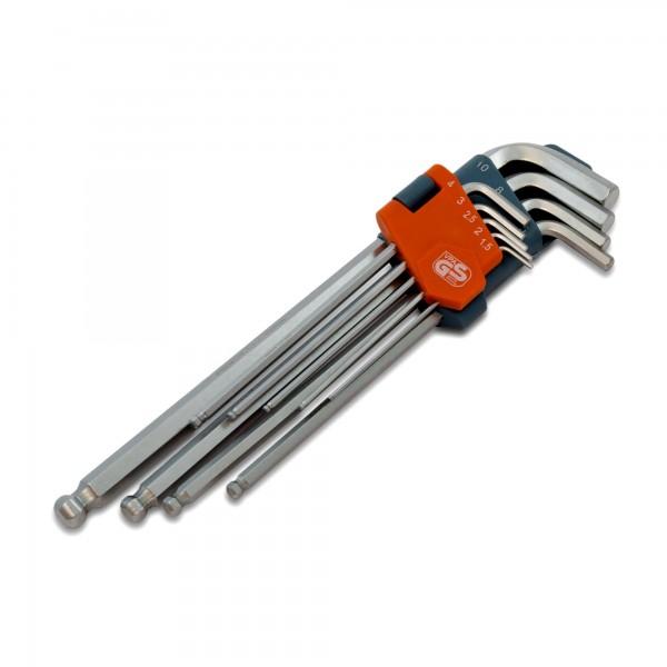 9 tlg CV Innensechskantschlüsselsatz - Premium (Größen 1,5 - 10)