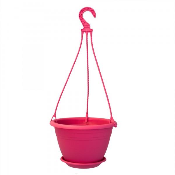 Hängeampel pink 25 cm Untersetzer + Aufhängung