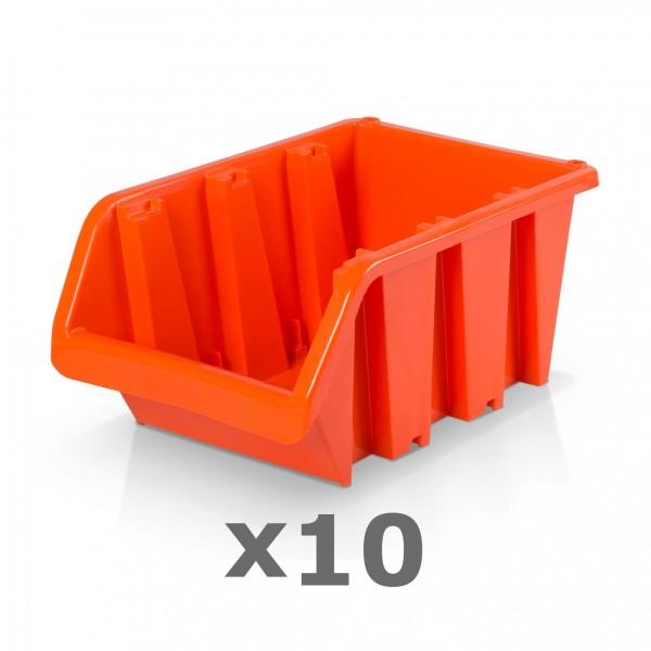 10 x Lagerbox Größe 5 rotbraun
