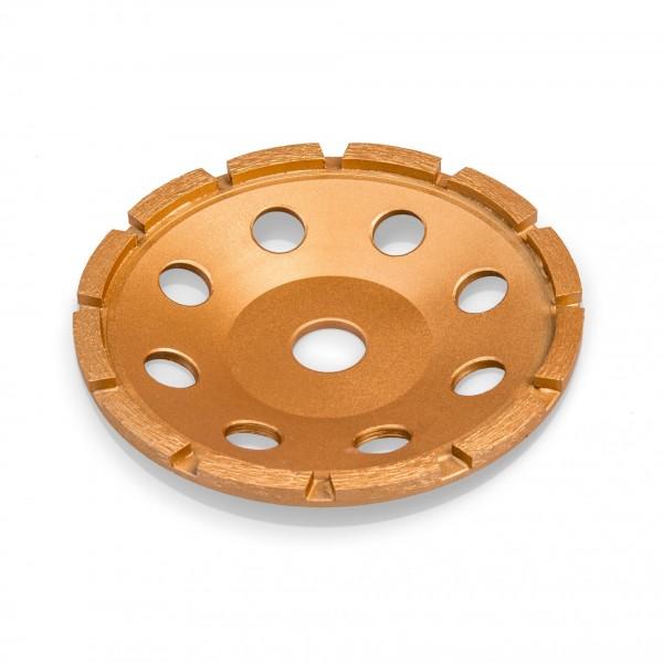 150 mm Diamantschleiftopf - 12 Segmente - 1 Reihe