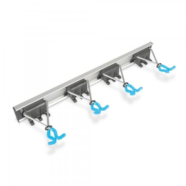 Gerätehalter mit 4 Haken - Aluminium - bis 10 kg Tragkraft