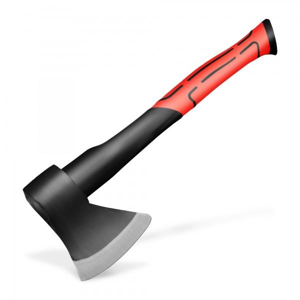 Axt 600 g mit 36 cm Glasfasergriff - rot/schwarz