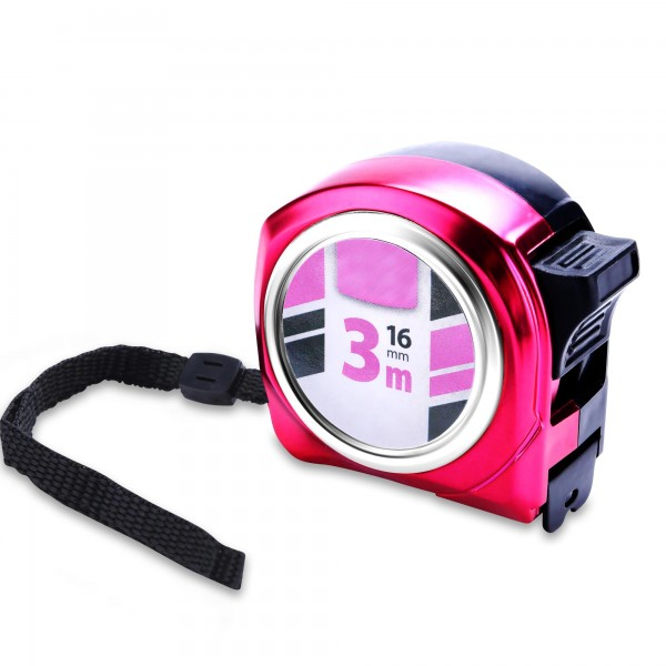 Damen-Maßband 3 m x 16 mm - rosa