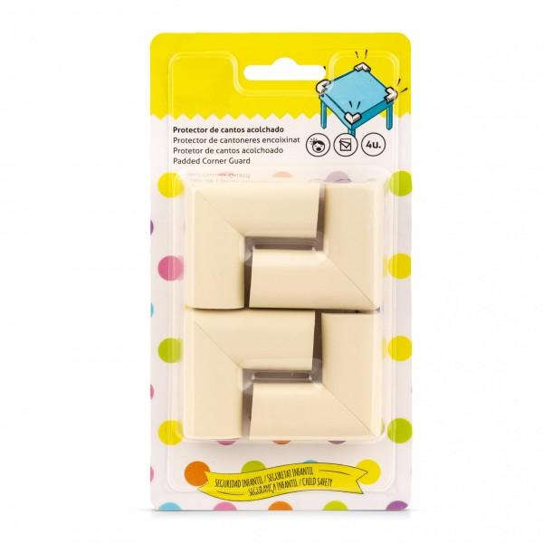 4 x gepolsterter Schaumstoff Eckenschutz weiß - selbstklebend