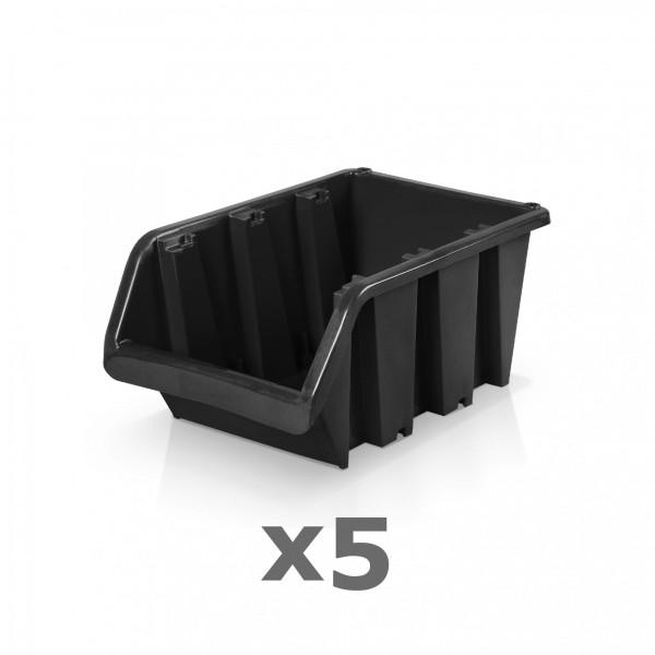 5 x Lagerbox Größe 3 schwarz
