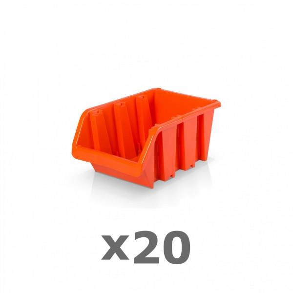 20 x Lagerbox Größe 1 rotbraun