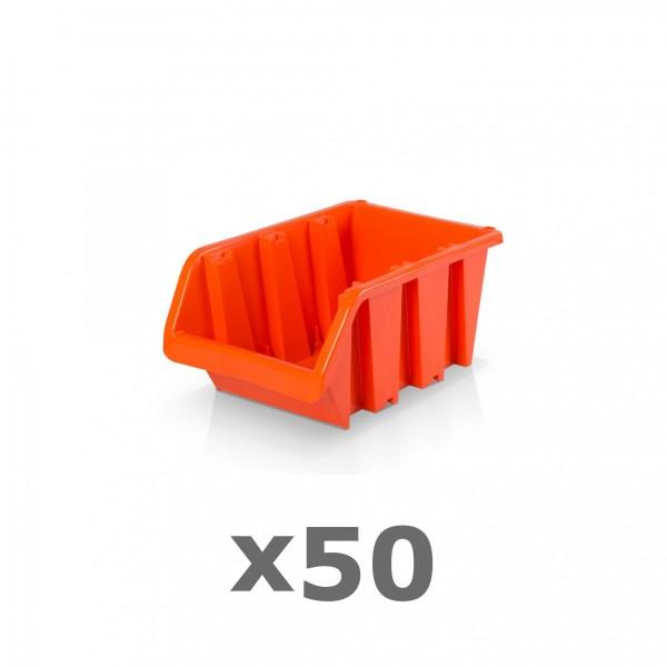50 x Lagerbox Größe 1 rotbraun