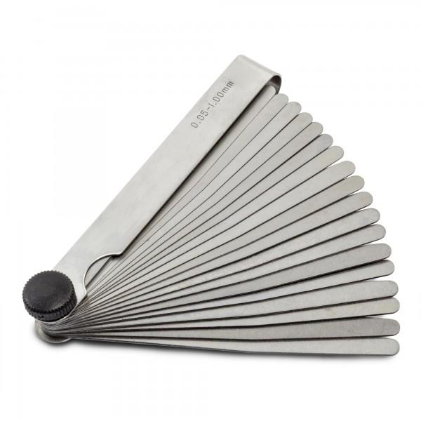 20 Blatt Fühlerlehre - Größen 0,05 bis 1,00 mm