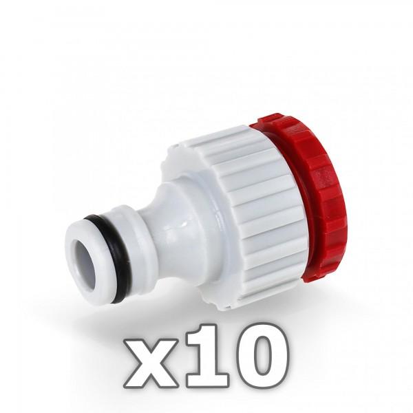 10 x Berlan Hahnstück für Wasserhahn 1/2 + 3/4'' Zoll - RED LINE -