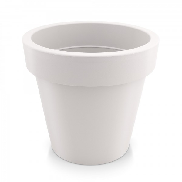 Kunststoff Blumentopf - weiß - Höhe 144 mm