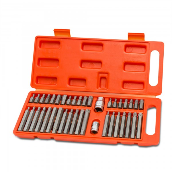 40 tlg. CV Innensechskant Bitsatz + Bithalter im Koffer