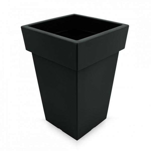 Kunststoff Blumentopf quadratisch - anthrazit - Höhe 293 mm