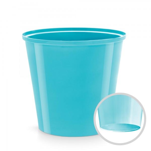 Kunststoff Blumentopf - hellblau - 130 mm Durchmesser - rund