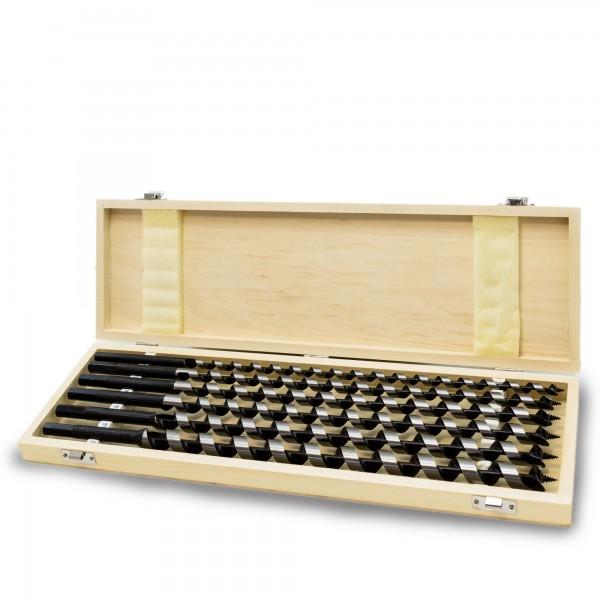 6 tlg. Holzbohrer Satz in Holzbox - 10 bis 20 x 460 mm - 6kant