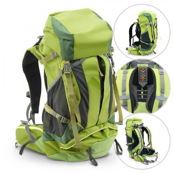 Camping Rucksack 45 Liter grün mit Regenschutz