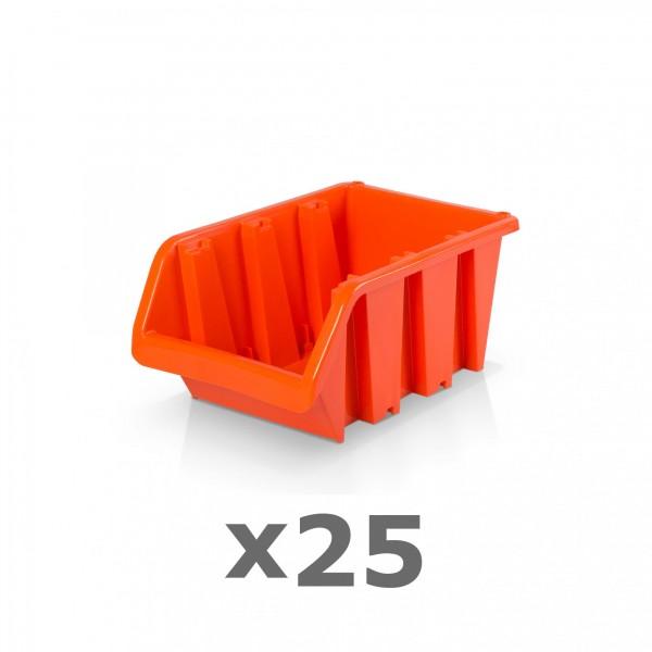 25 x Lagerbox Größe 2 rotbraun