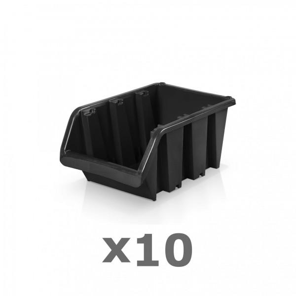 10 x Lagerbox Größe 2 schwarz