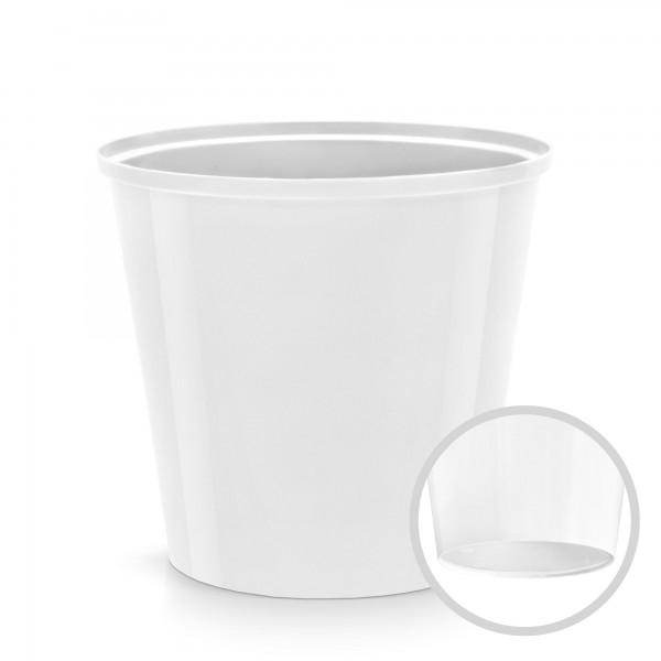 Kunststoff Blumentopf - weiß - 130 mm Durchmesser - rund