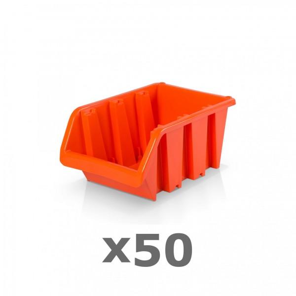 50 x Lagerbox Größe 2 rotbraun