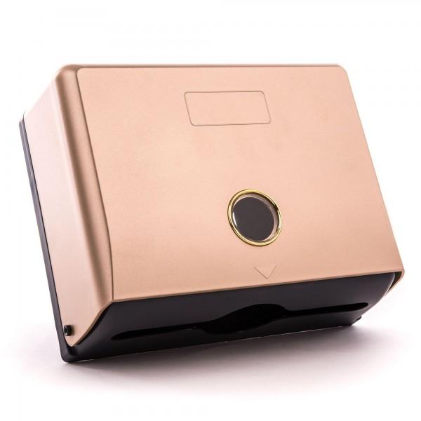 Kunststoff Papierspender pink - 20,5 x 26 x 10 cm