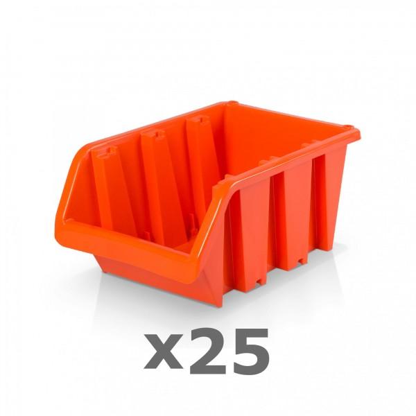 25 x Lagerbox Größe 4 rotbraun