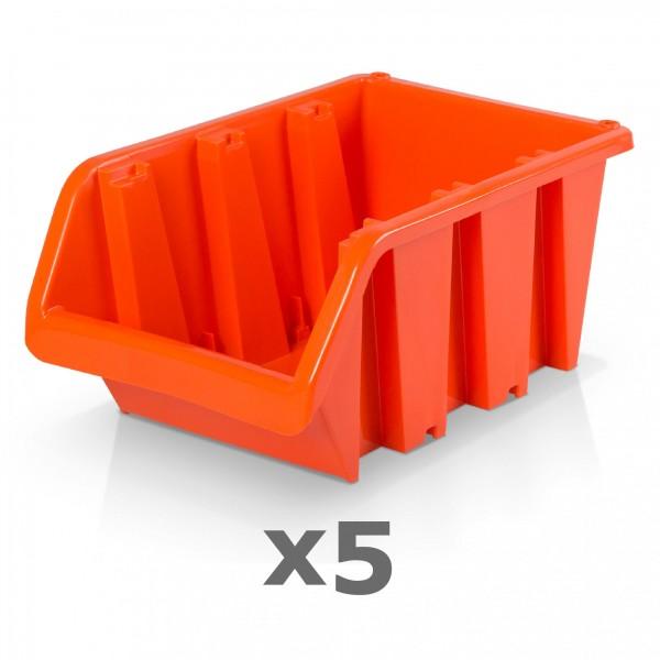 5 x Lagerbox Größe 6 rotbraun