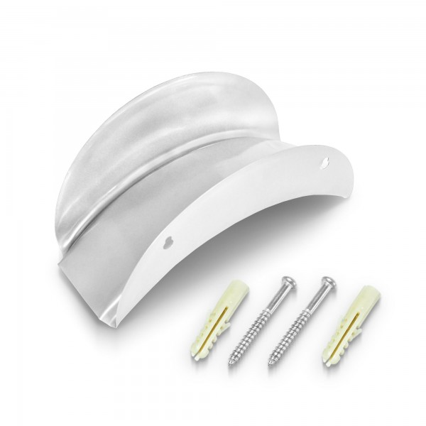 Metall Wandschlauchhalter 130 mm - silbern