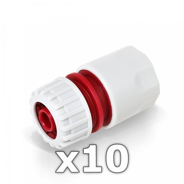 """10x Berlan Schlauchstück 1/2"""" Zoll Kupplung -RED LINE-"""