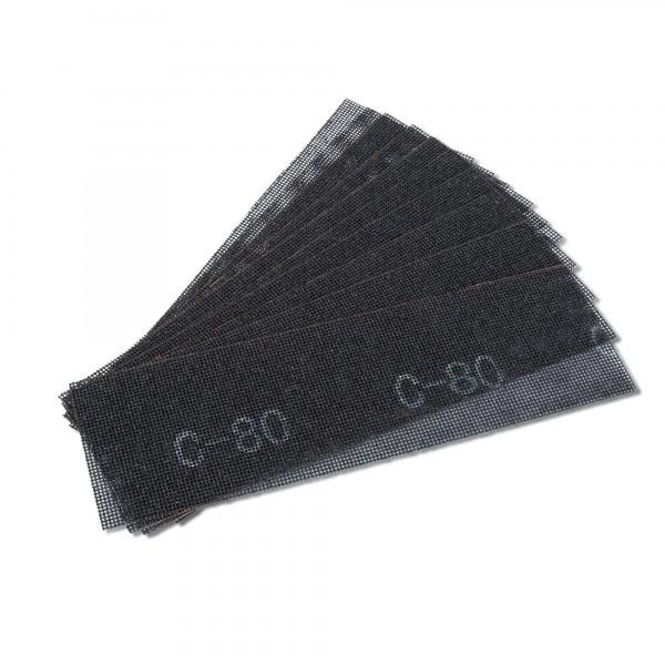 10 x Schleifgitter für Handschleifer - 280 x 93 mm - K80
