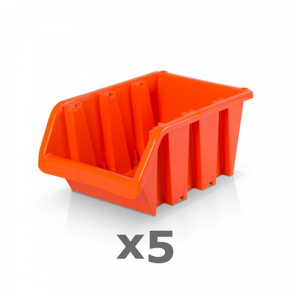 5 x Lagerbox Größe 4 rotbraun