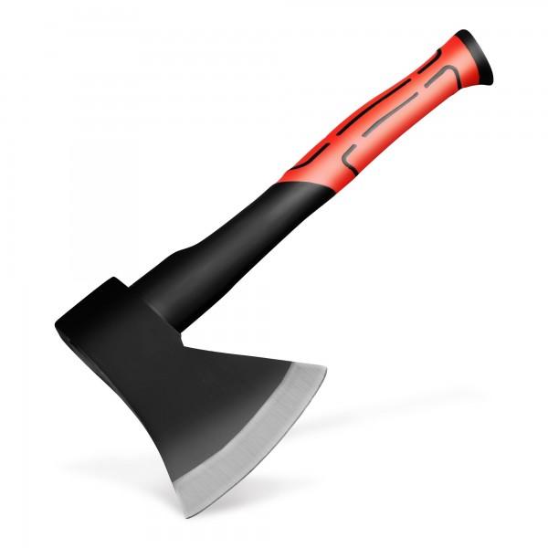 Axt 800 g mit 36 cm Glasfasergriff - rot/schwarz