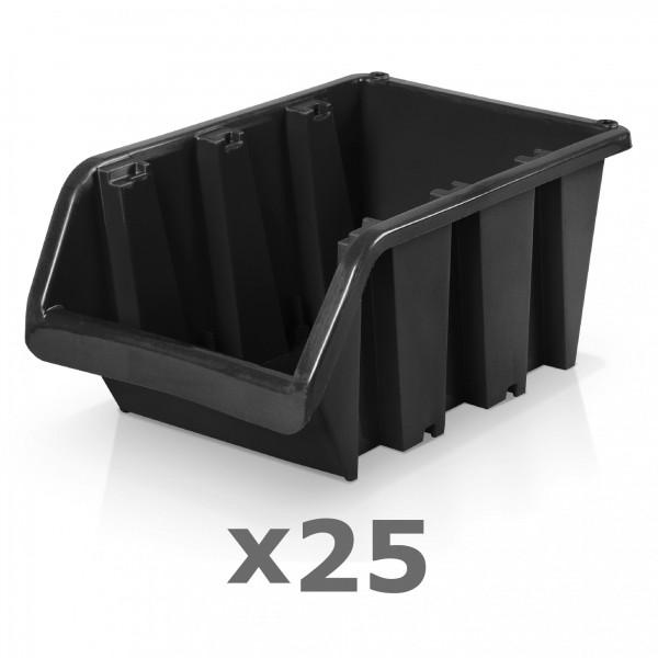 25 x Lagerbox Größe 6 schwarz