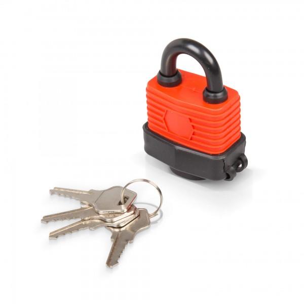 40 mm Vorhängeschloss wasserdicht mit 4 Schlüsseln
