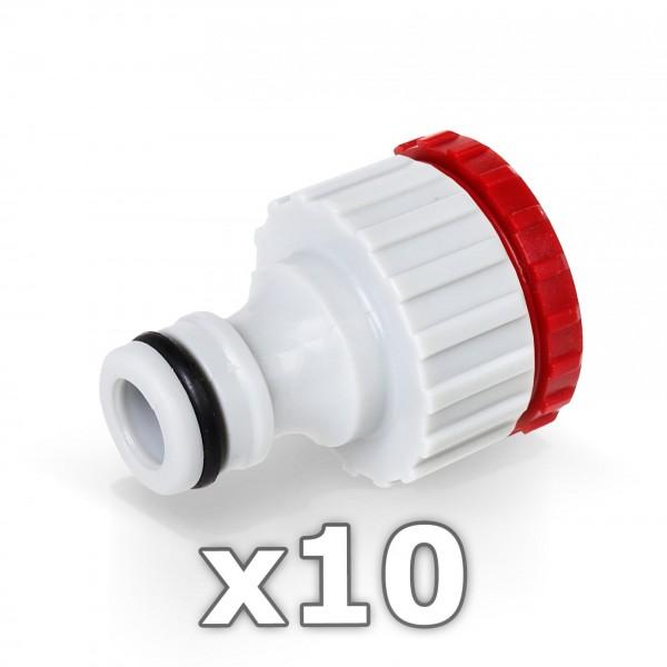 """10x Berlan Hahnstück für Wasserhahn 3/4 + 1"""" Zoll -RED LINE-"""