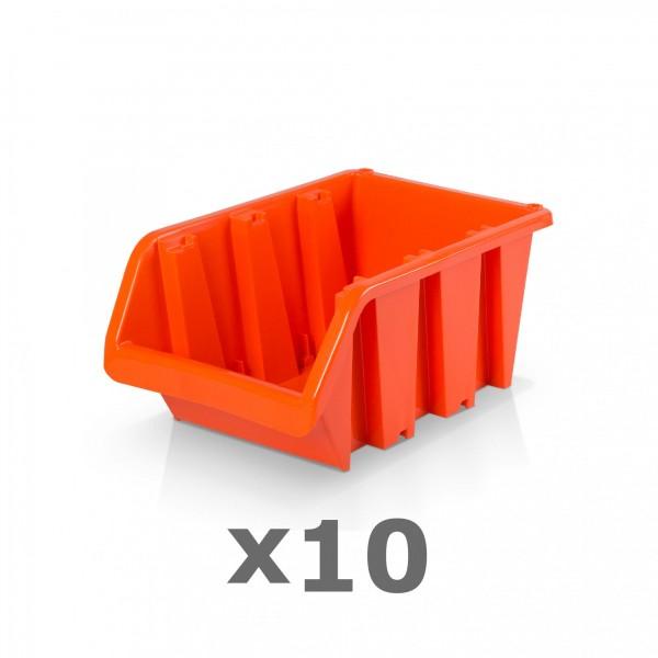 10 x Lagerbox Größe 3 rotbraun