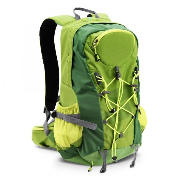 Camping Rucksack 32 Liter grün mit Regenschutz
