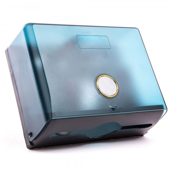 Kunststoff Papierspender blau - 20,5 x 26 x 10 cm